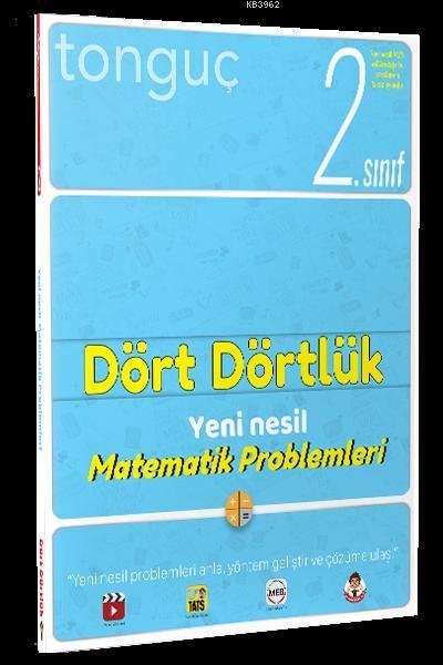 Tonguç Yayınları 2. Sınıf Dört Dörtlük Yeni Nesil Matematik Problemleri Tonguç
