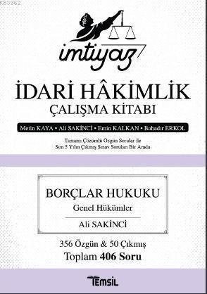 İmtiyaz - İdari Hakimlik Çalışma Kitabı Borçlar Hukuku