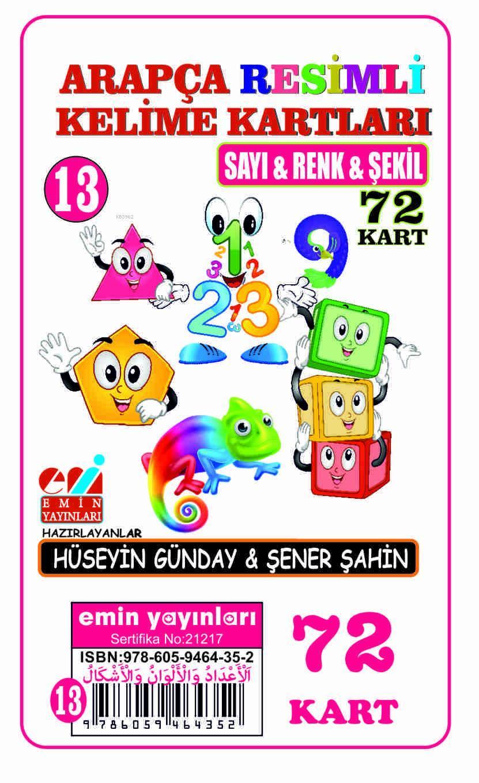 Arapça 13.Sayı-Renk-Şekil / Resimli Kelime Kartları 72-Kart