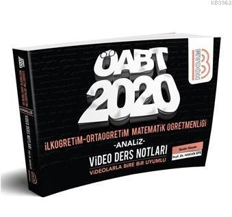 2020 ÖABT İlköğretim ve Ortaöğretim Matematik Öğretmenliği Video Ders Notları Benim Hocam Yayınları