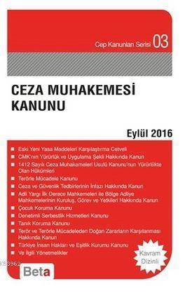 Ceza Muhakemesi Kanunu; Eylül 2016