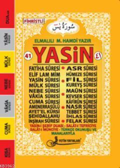 Yasin Türkçe Okunuşlu Mealli (Cep Boy-Kod: F019)