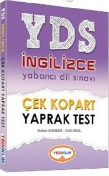 YDS İngilizce Çek Kopart Yaprak Test 2016