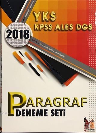 2018 YKS KPSS ALES DGS Paragraf Deneme Seti