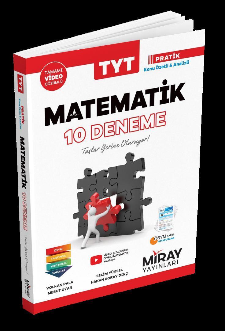 Miray Yayınları TYT Matematik 10 Deneme Miray