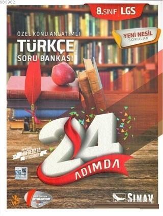 2019 8. Sınıf 24 Adımda LGS Türkçe Özel Konu Anlatımlı Soru Bankası