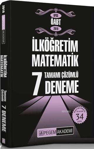 2019 KPSS ÖABT İlköğretim Matematik Tamamı Çözümlü 7 Deneme