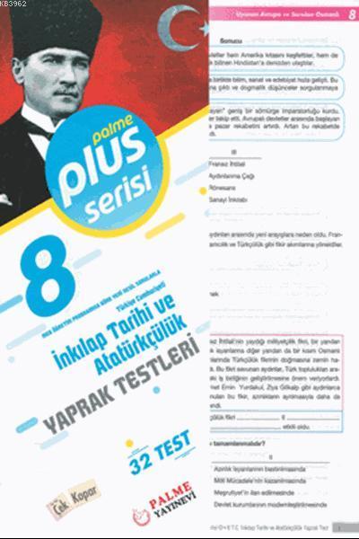 8.Sınıf Pus Serisi T.C. İnkılap Tarihi ve Atatürkçülük Yaprak Testleri