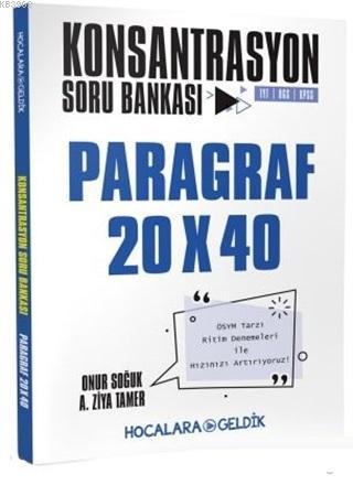 Hocalara Geldik Yayınları Paragraf Konsantrasyon 20x40 Soru Bankası  Hocalara Geldik