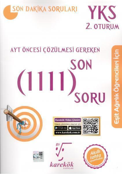 Karekök Yayınları AYT Eşit Ağırlık Çözülmesi Gereken Son 1111 Soru