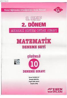 8. Sınıf 2. Dönem TEOG Matematik Çözümlü 10 Deneme Sınavı