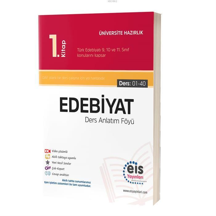 EIS - YKS Ders Anlatım Föyü Edebiyat 1.Kitap
