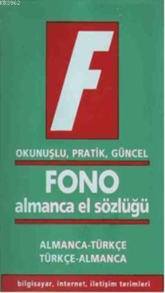 Fono Almanca El Sözlüğü; Okunuşlu, Pratik, Güncel