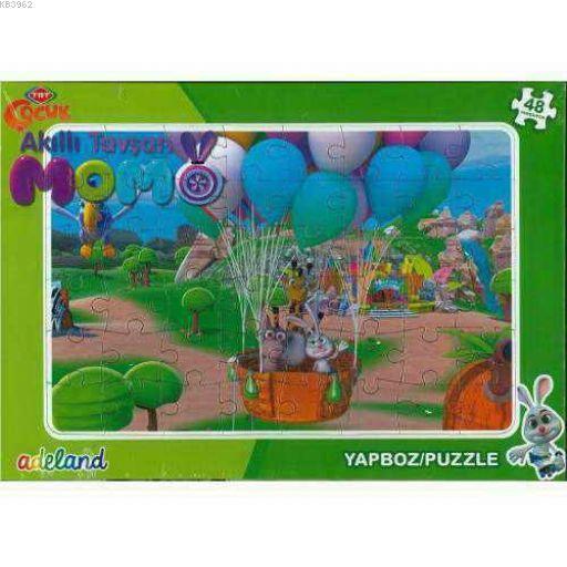 Trt Çocuk 48 Parça Akıllı Tavşan Momo Puzzle 20193