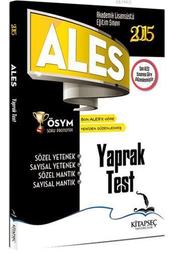 Ales Yaprak Test - Sayısal ve Sözel Yetenek 2015