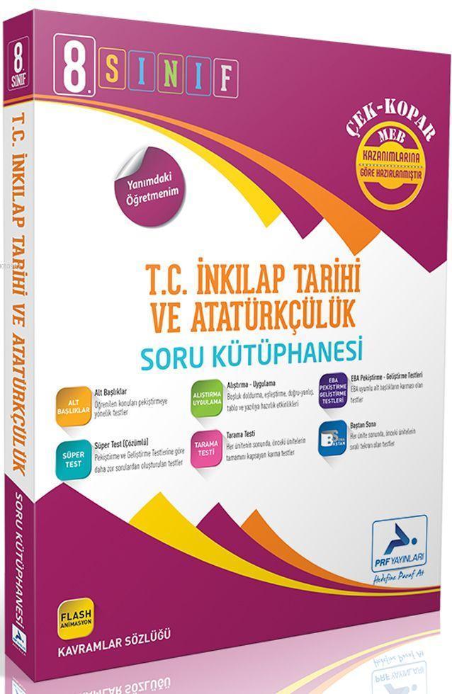 Paraf Yayınları 8. Sınıf LGS T.C. İnkılap Tarihi ve Atatürkçülük Soru Kütüphanesi Çek Kopar Paraf