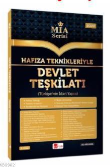 Hafıza Teknikleriyle Devlet Teşkilatı MİA Serisi Ali Argama Akfon Yayınları 2020; Tüm Kurum Sınavları İçin