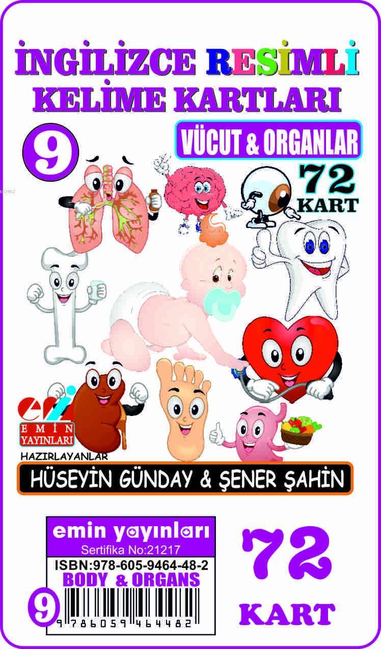 İngilizce 09.Vücut ve Organlar / Resimli Kelime Kartları 72-Kart