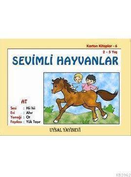 Karton Kitap-6-Sevimli Hayvanlar; (2-5 Yaş)