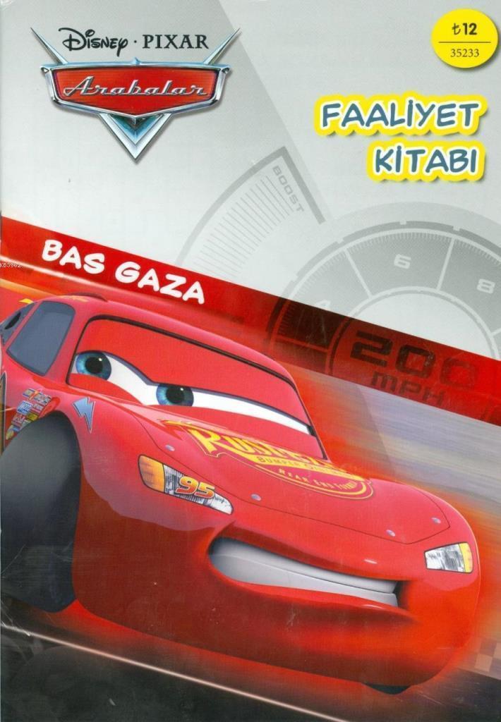 Disnep Arabalar Şimşek McQueen Bas Gaza Faaliyet Kitabı