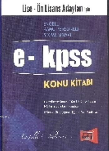 e KPSS Konu Kitabı Lise ve Ön Lisans Adayları İçin