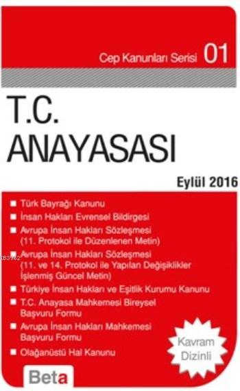 T.C. Anayasası; Cep Kanunu Serisi