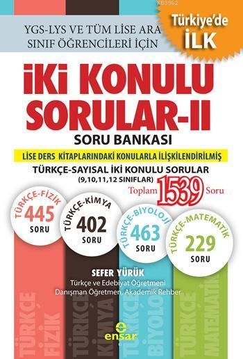 İki Konulu Sorular - II Soru Bankası; Türkçe-Sayısal İki Konulu Sorular