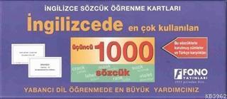 İngilizcede En Çok Kullanılan Üçüncü 1000 Sözcük; İngilizce Sözcük Öğrenme Kartları