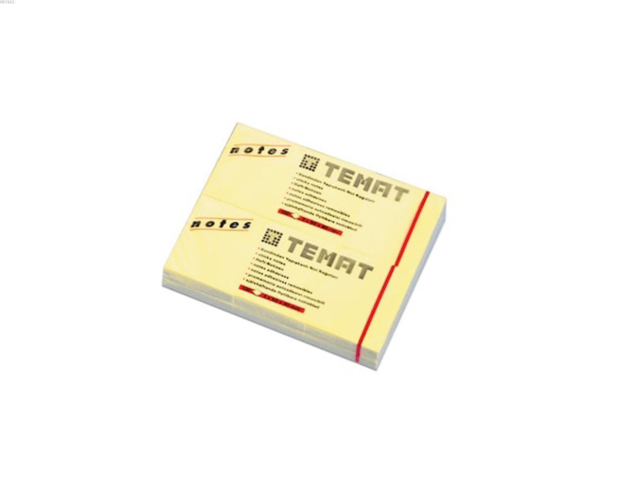 Temat 3x50x40 Sarı Not Kağıdı Sarı