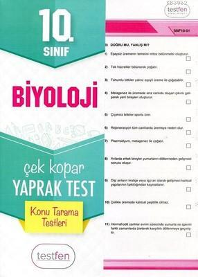 10. Sınıf Biyoloji Konu Tarama Yaprak Testleri