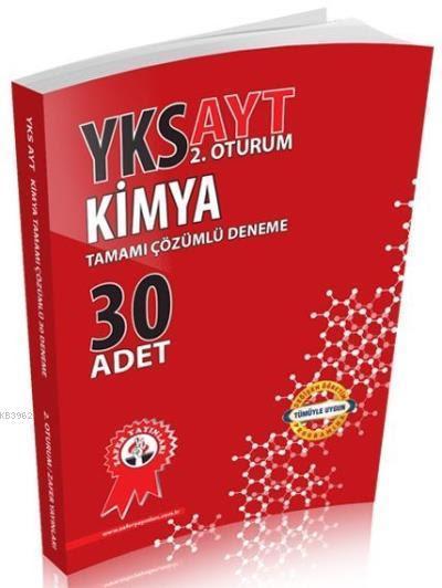 Zafer Yayınları AYT Kimya Tamamı Çözümlü 30 Adet Deneme Zafer