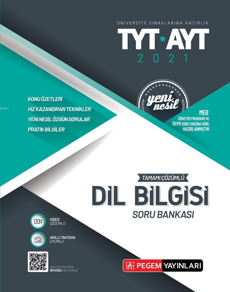 Üniversite Sınavlarına Hazırlık TYT-AYT Tamamı Çözümlü Dil Bilgisi Soru Bankası