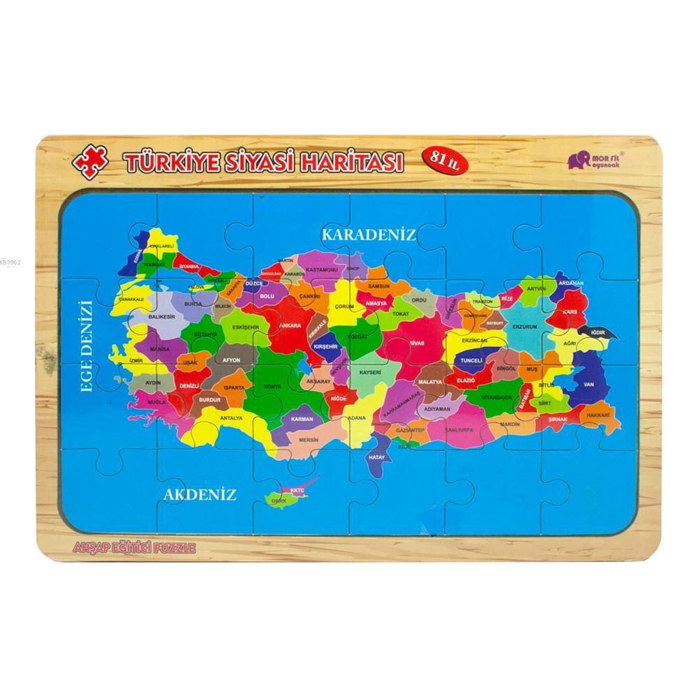 ANT Türkiye Siyasi Haritası Ahşap Puzzle 23213