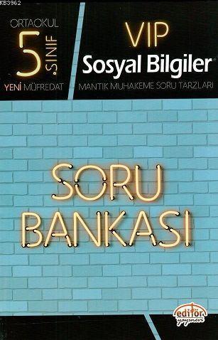 Editör Yayınları 5. Sınıf VIP Sosyal Bilgiler Soru Bankası Editör