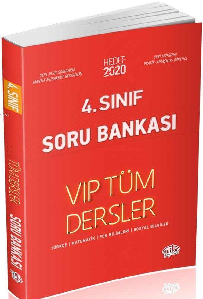 4. Sınıf VIP Tüm Dersler Soru Bankası