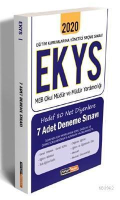 2020 EKYS MEB Okul Müdür ve Müdür Yardımcılığı Hedef 80 Net Diyenlere 7 Adet Deneme Sınavı