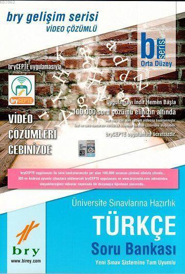 Birey Yayınları Türkçe B Serisi Orta Düzey Video Çözümlü Soru Bankası Birey Eğitim