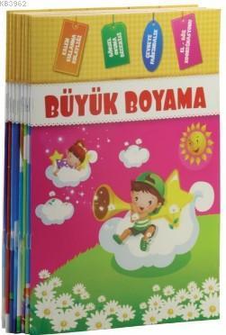 Büyük Boyama Seti (Renkli Örnekli - 8 Kitap)