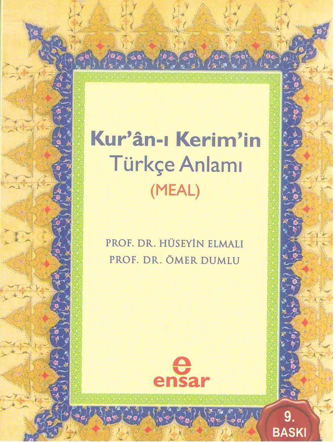 Kuran-ı Kerimin Türkçe Anlamı