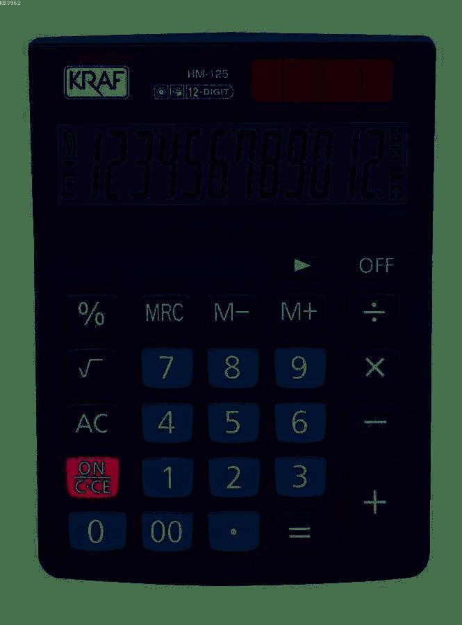 Kraf Hesap Makinesi Masaüstü 12 Hane Hm-125