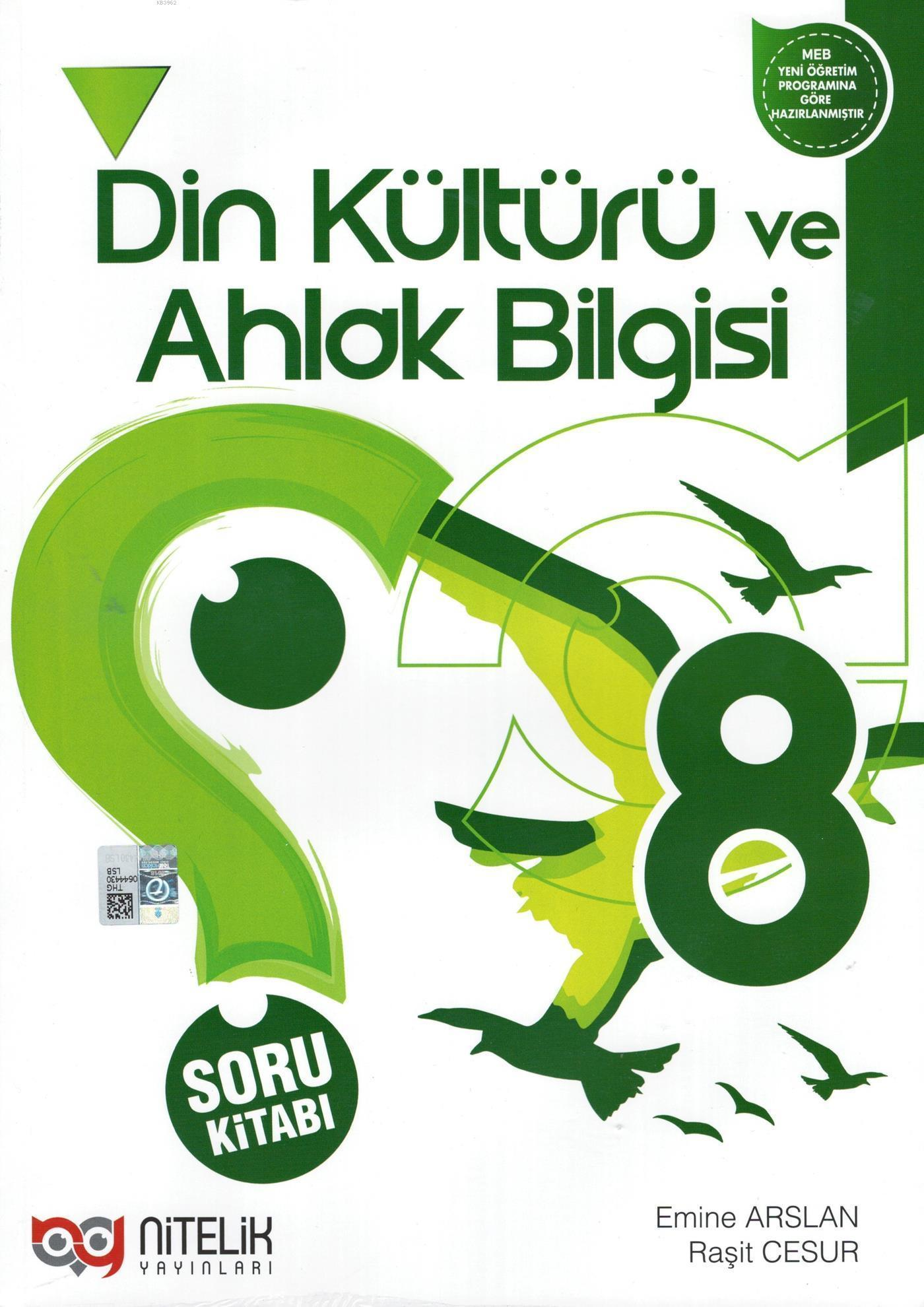 Nitelik Yayınları 8. Sınıf Din Kültürü ve Ahlak Bilgisi Soru Kitabı Nitelik