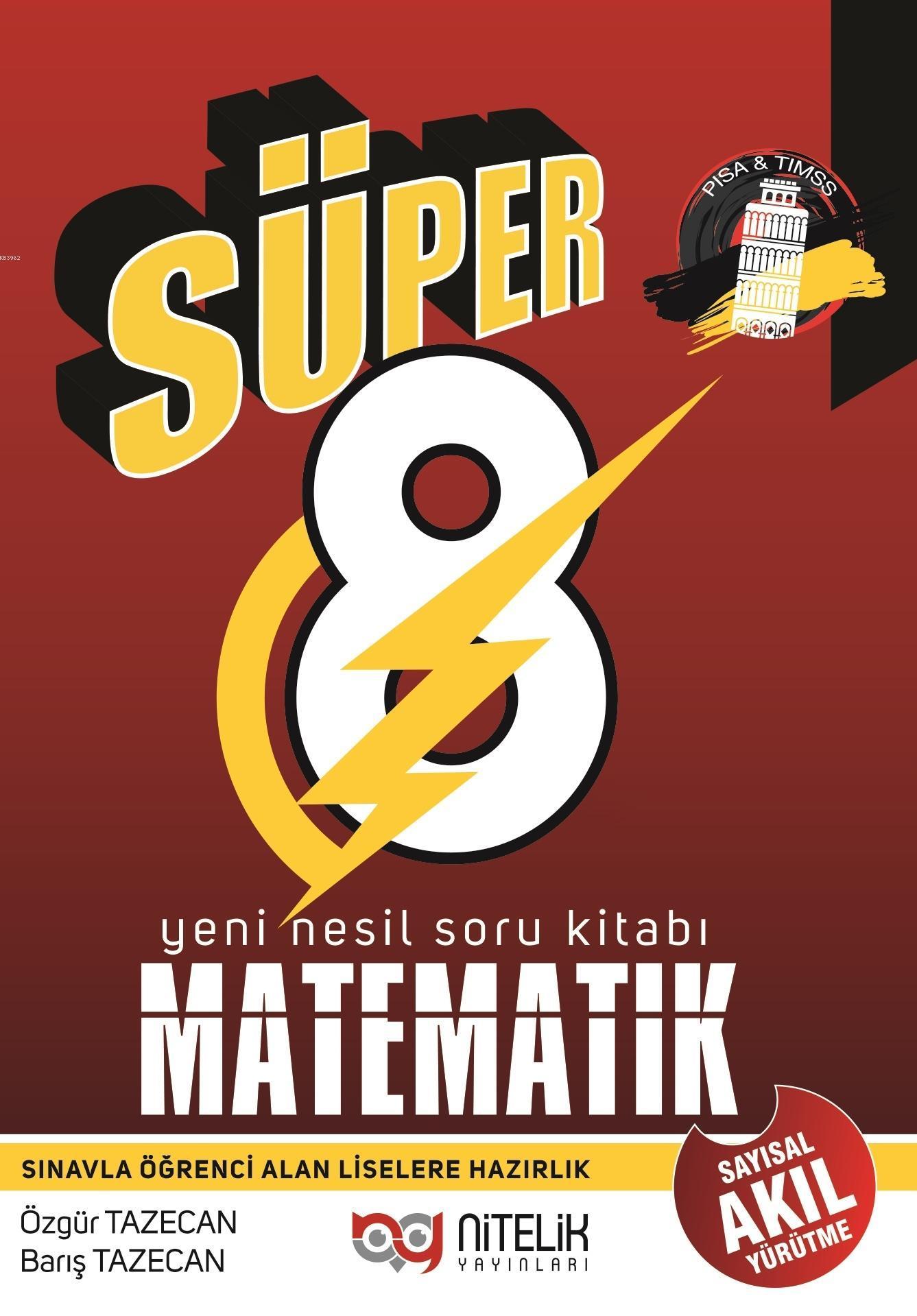 Nitelik Yayınları 8.Sınıf Yeni Nesil Matematik Soru Kitabı