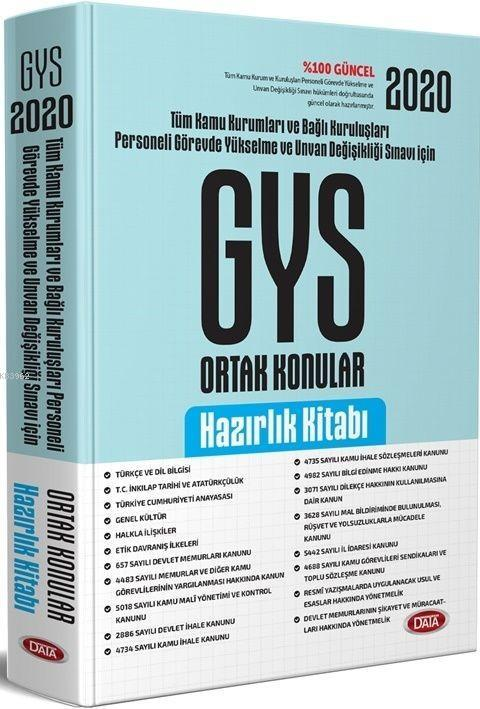 Data Yayınları 2020 Ortak Konular Hazırlık Kitabı