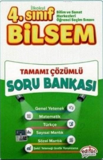 Editör Yayınları 4. Sınıf Bilsem Tüm Dersler Tamamı Çözümlü Soru Bankası Editör