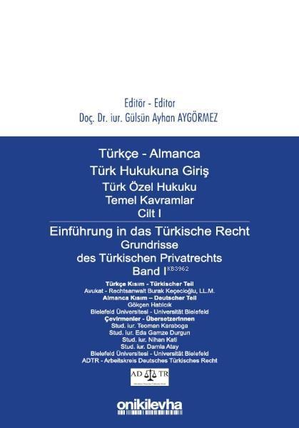 Türkçe - Almanca Türk Özel Hukuku Temel Kavramlar Cilt I