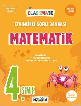 Okyanus Yayınları 4. Sınıf Matematik Classmate Etkinlikli Soru Bankası Okyanus Y