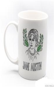 Kupa (Porselen) - Portreler Serisi - Jane Austen