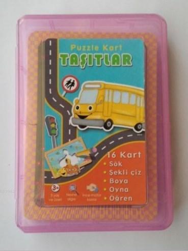 Puzzle Kart Taşıtlar Kutulu