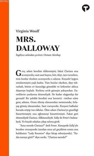 Mrs. Dalloway; Virginia Woolf