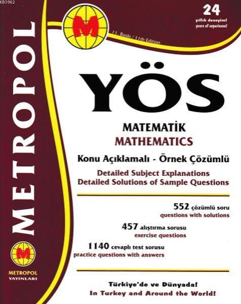 YÖS Matematik Konu Açıklamalı Örnek Çözümlü